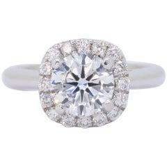GIA Certified Scott Kay Diamond Halo Engagement Ring