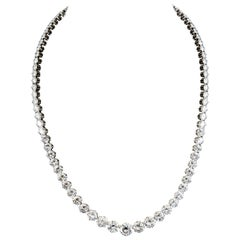 GIA Certified 41.00 Carat Diamond Riviere Necklace