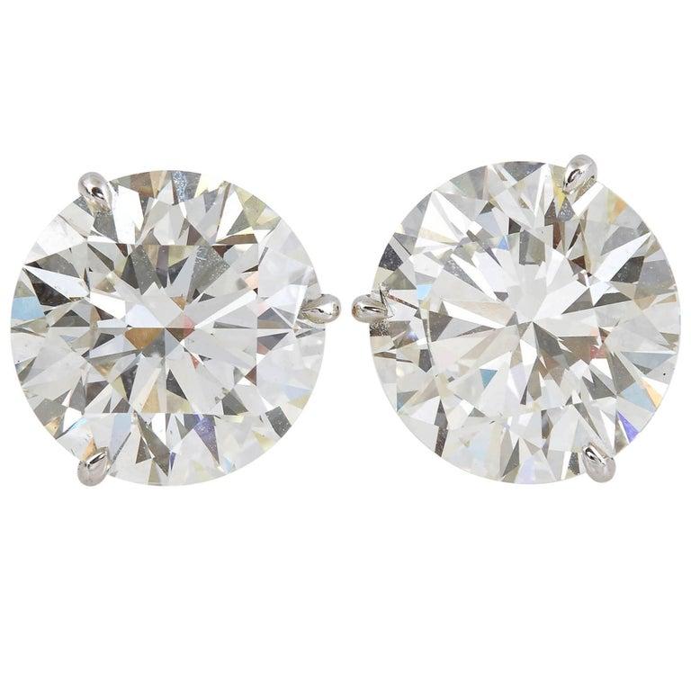 Gia Certified Diamond Stud Earrings