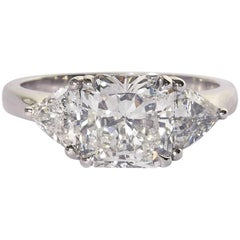 Radiant Cut Engagement Ring GIA Certified