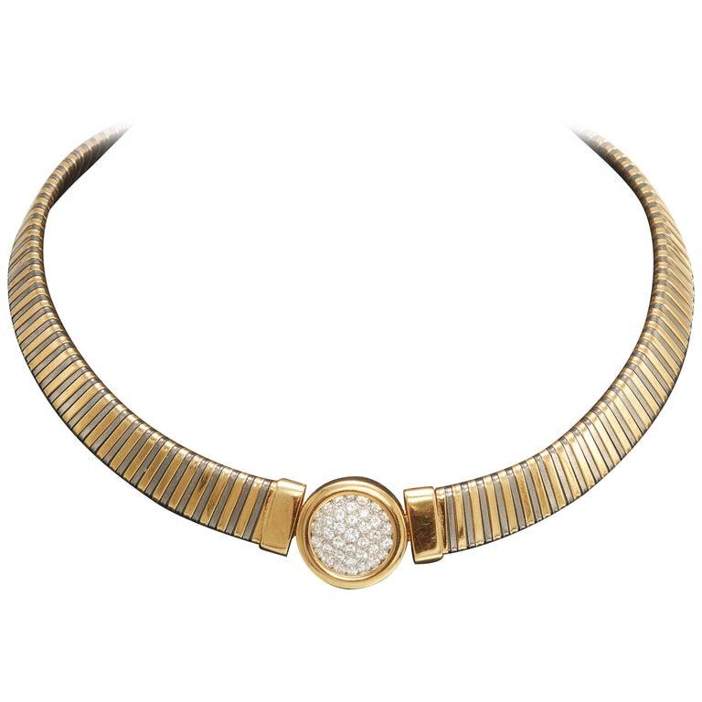 Yellow Gold Goose Diamond Necklace