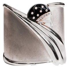 1980s Erte Sterling Silver Cuff Bracelet