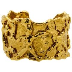 Jean Mahie 22 Karat Yellow Gold Cuff Bracelet