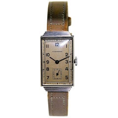 Sternwatch Stainless Steel Art Deco New Old Stock Manual Wind Watch, 1930s