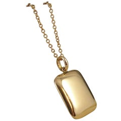 "Antique 10 Karat Gold Locket, Engraved ""7.7.04"""