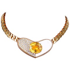 Bvlgari Yellow Sapphire Diamond Bulgari Necklace