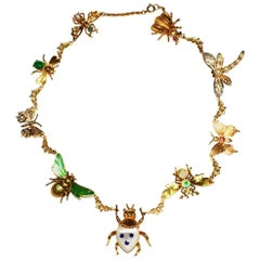 Charming One of a Kind Insect Necklace