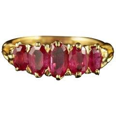 Antique Victorian Natural Burmese Ruby Ring 18 Carat Gold, circa 1900 Certified