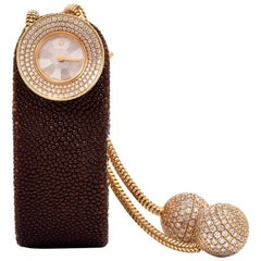 Van Cleef & Arpels Ladies Yellow Gold Diamond VCA Wristwatch