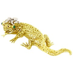 Tiffany & Co. Salamander 18 Karat Yellow and Pink Gold Brooch