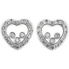 Floating Diamond Heart Earrings