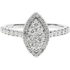 Diamond Navette Cluster Ring