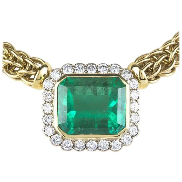 Wempe Emerald and Diamond Necklace 40 Carat