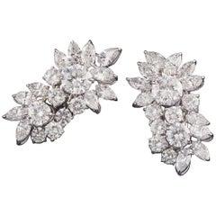Diamond Cluster Earrings 20.0 carats