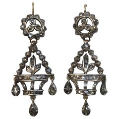Pair of Antique Rose Cut Giardinetti Earrings