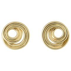 Tiffany & Co. Classic Swirl Gold Earrings