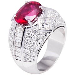 Ella Gafter Ruby and Diamond Cocktail Ring