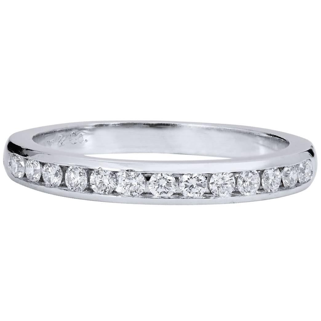 Tiffany and Co Diamond Band Ring For Sale at 1stdibs