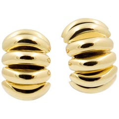 14 Karat Yellow Gold Hoop Clip-On Earrings