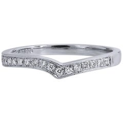 0.16 Carat Pave Diamond Free-Form Band Ring