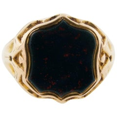 Victorian Shield Shape Bloodstone Ring