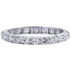 Estate 0.46 Carat Single Cut Diamond Eternity Band Ring Size 4.5