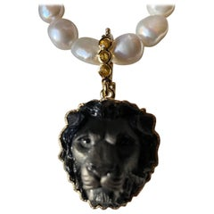 Regal Onyx Lionshead Pendant