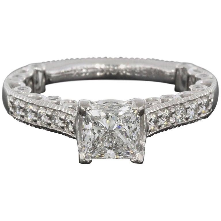 Verragio Paridiso 18 Karat White Gold Princess Diamond Enement Ring