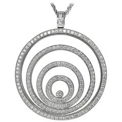 Chopard Diamond 18 Karat White Gold Happy Spirit Necklace