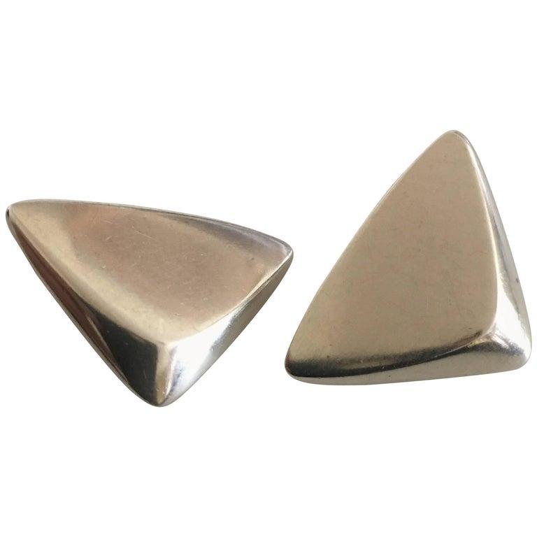 Georg Jensen Sterling Silver Earrings 'Clips'