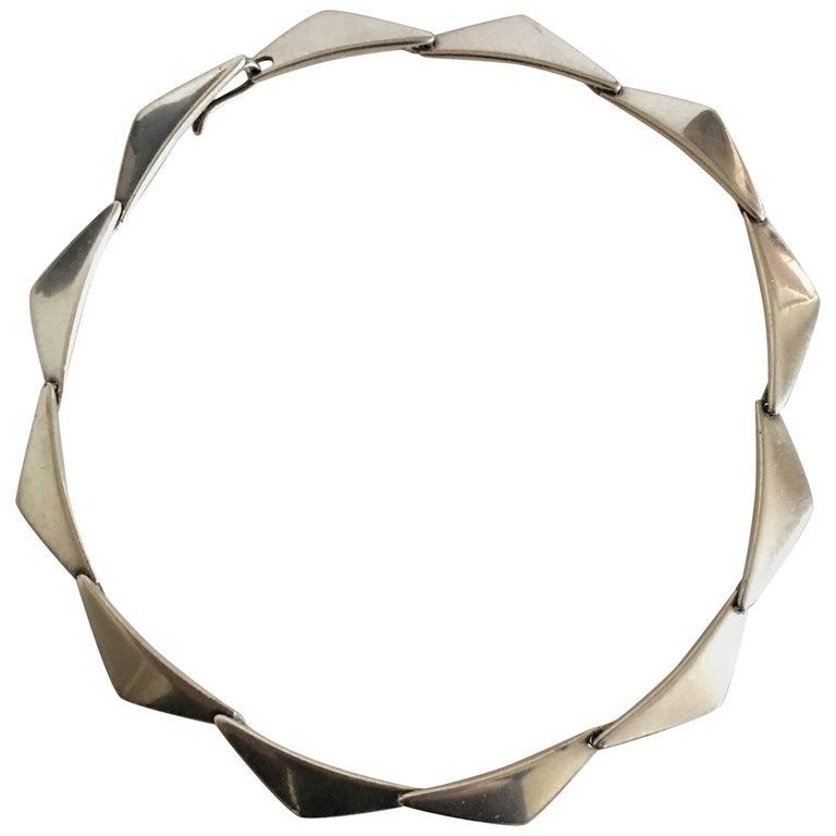 Hans Hansen Sterling Silver Necklace Peak #315