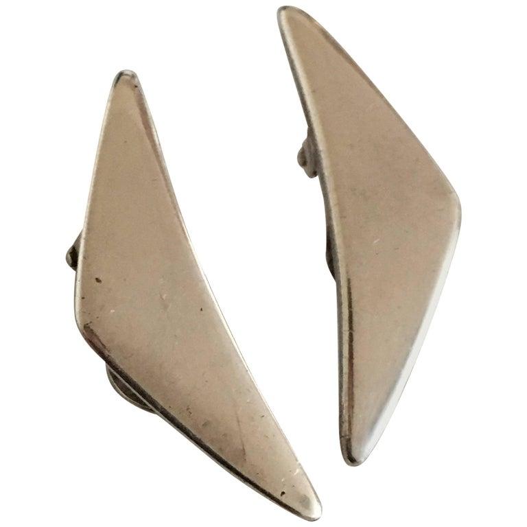 Hans Hansen Sterling Sølv Earring #432 Med Clips