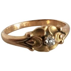 Georg Jensen & Wendel 18 karat Gold Ring No. 234 with Diamond