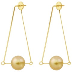 Liv Luttrell Golden South Sea Pearl Kinetic Earrings