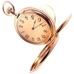 Tiffany & Co. Rose Gold Full Hunter Case Pocket Watch