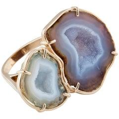 Karolin Rose Gold Agate Steffi Ring