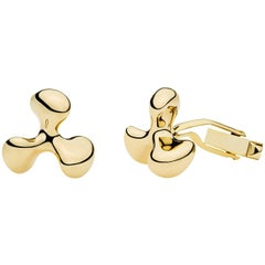 Towe Norlen 18 Karat Yellow Gold Propeller Cufflinks