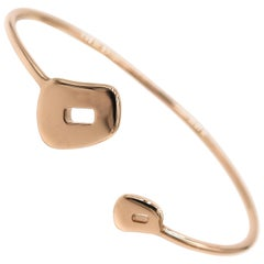 Puzzle Rose Gold Bangle Bracelet by Mattioli
