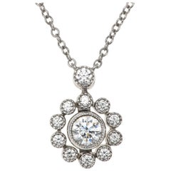 Tiffany & Co. Platinum Diamond Necklace