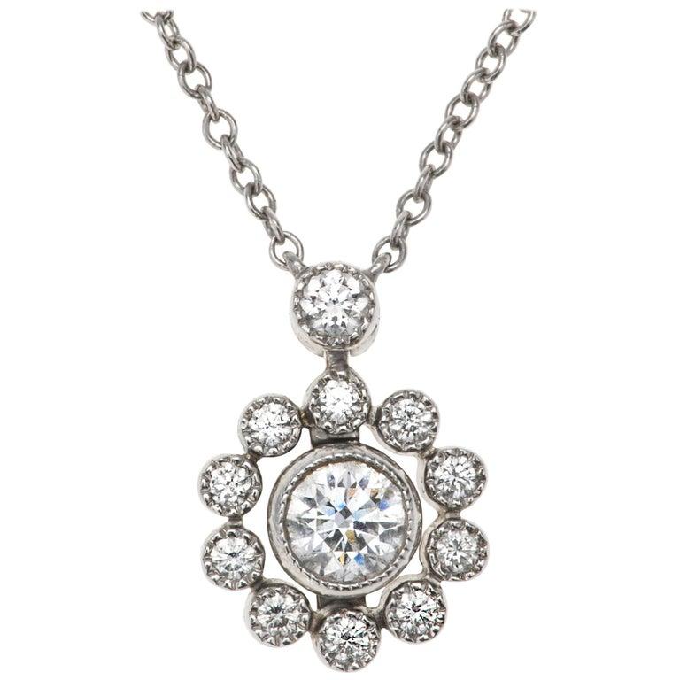 Tiffany & Co. Platinum Diamond Necklace For Sale