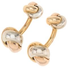 Cartier 18 Karat Trinity Knot Cufflinks