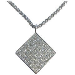 5 Carat of Diamonds Invisible Set Pendant Necklace