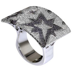 Sterling Silver Platinum Star Ring One of a Kind