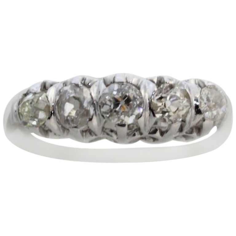 Magnificent White Gold and Old Diamonds Ring