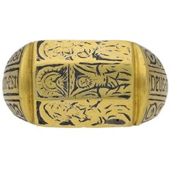 Medieval Iconographic Ring, circa 15th Century