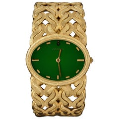 Corum Ladies Yellow Gold Emerald Wristwatch