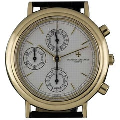 Vacheron & Constantin Gold Silver Pyramid Dial Gents 47001 Automatic Wristwatch