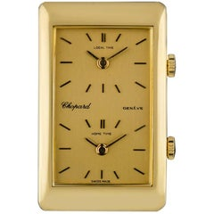 Chopard Gold Champagne Dial Dual Time Zone Kutchinsky Gents Manual Wind Watch
