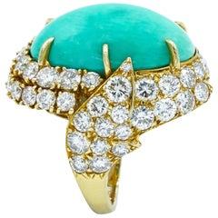 Gerard Paris Turquoise Diamond Ring