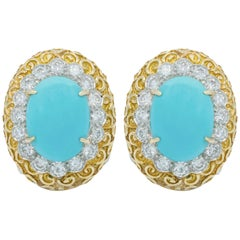 Van Cleef & Arpels Turquoise Earrings